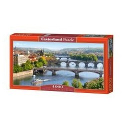 Puzzle 4000 Vltava Bridges in Prague CASTOR