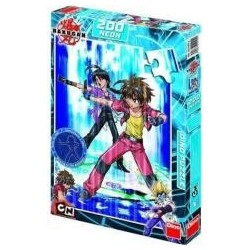 Puzzle 200 Bakugan Dan and Shun Neon DINO