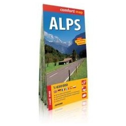 Comfort!map Alpy (Alps), 1:650 000 mapa