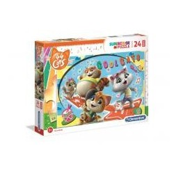 Puzzle 24 Maxi 44 koty - Cool cats