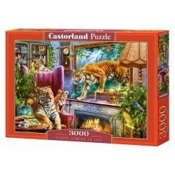 Puzzle 3000 Tigers Coming to Life CASTOR