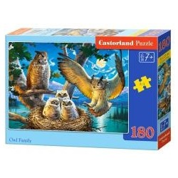 Puzzle 180 Owl Family CASTOR
