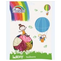 "Balony Metal 12"" mix (100szt) FIORELLO"