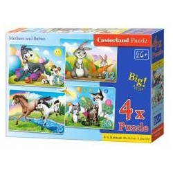 Puzzle x 4 - Mothers and Babies CASTORLAND