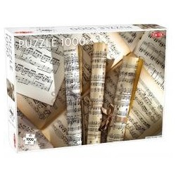 Puzzle 1000 Scrolls of sheet music