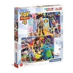 Puzzle 2x20 Super kolor Toy story 4