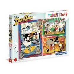 Puzzle 3x48 Super kolor Duck Tales