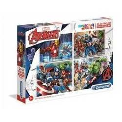 Puzzle 20+60+100+180 Superkolor The Avengers