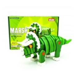 Puzzle piankowe 3D Dinozaury Triceratops