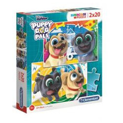 Puzzle 2x20 Super Kolor Puppy Dog Pals