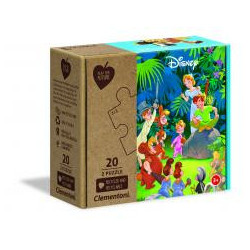 Puzzle 2x20 Play For Future Jungle Book+Peter Pan