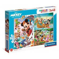 Puzzle 3x48 Super Kolor Mickey and Friends