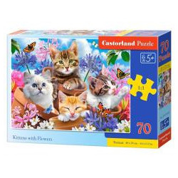 Puzzle 70 Kittens with Flowers CASTOR