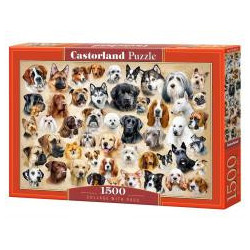 Puzzle 1500 Collage with Dogs CASTOR