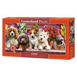 Puzzle 600 Puppies on a shelf CASTOR