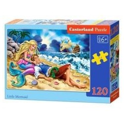 Puzzle 120 Little Mermaid CASTOR
