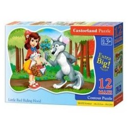 Puzzle 12 maxi Little Red Riding Hood CASTOR