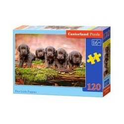 Puzzle 120 Five Little Puppies CASTOR