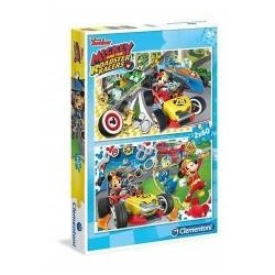 Puzzle 2x60 Mickey Roadster Racers