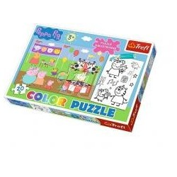 Puzzle Color Świnka Peppa TREFL