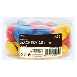 Magnesy 20mm tuba 60szt GRAND
